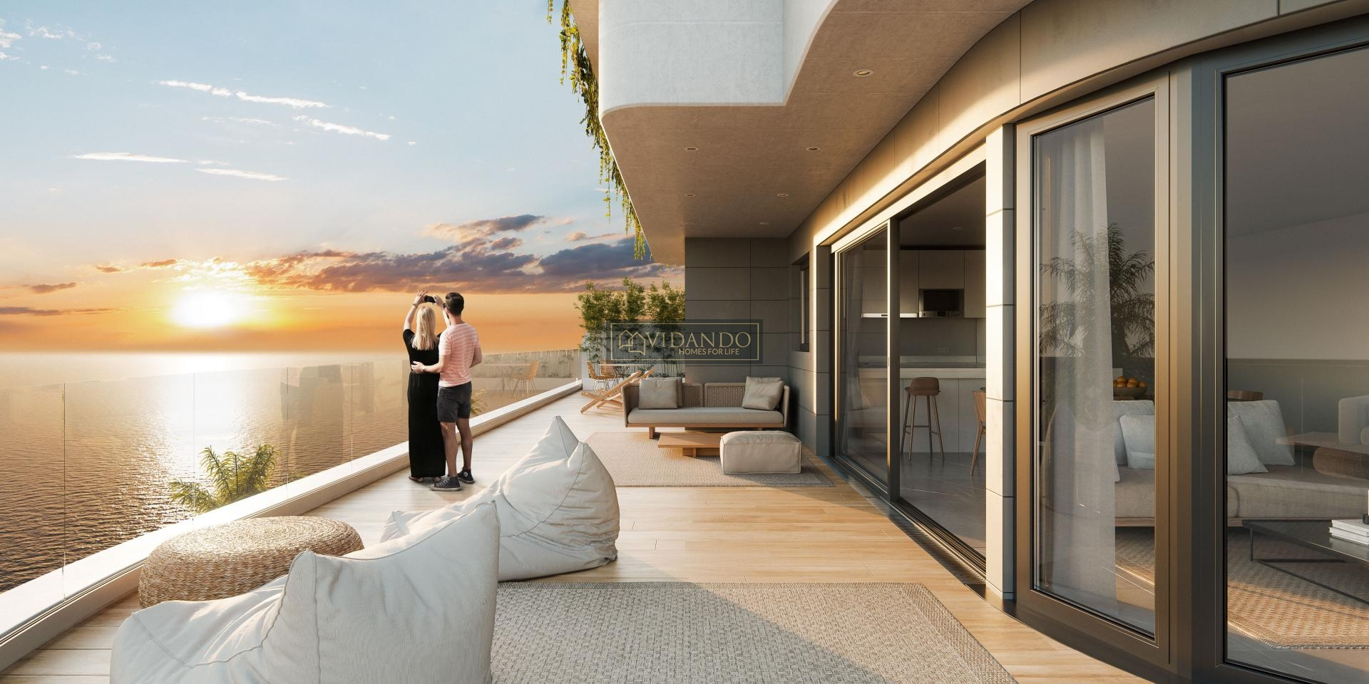 2 bedroom Apartment with terrace in Aguilas - New build in Vidando
