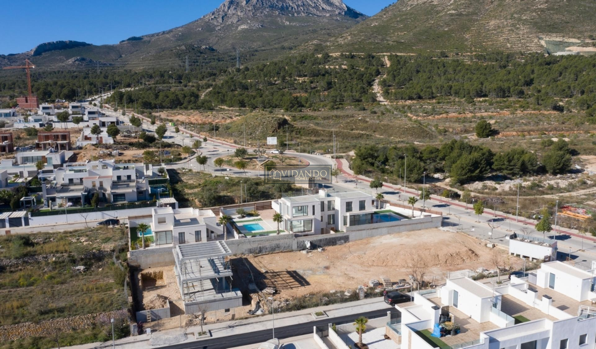 Building plot in Polop, Costa Blanca north in Vidando