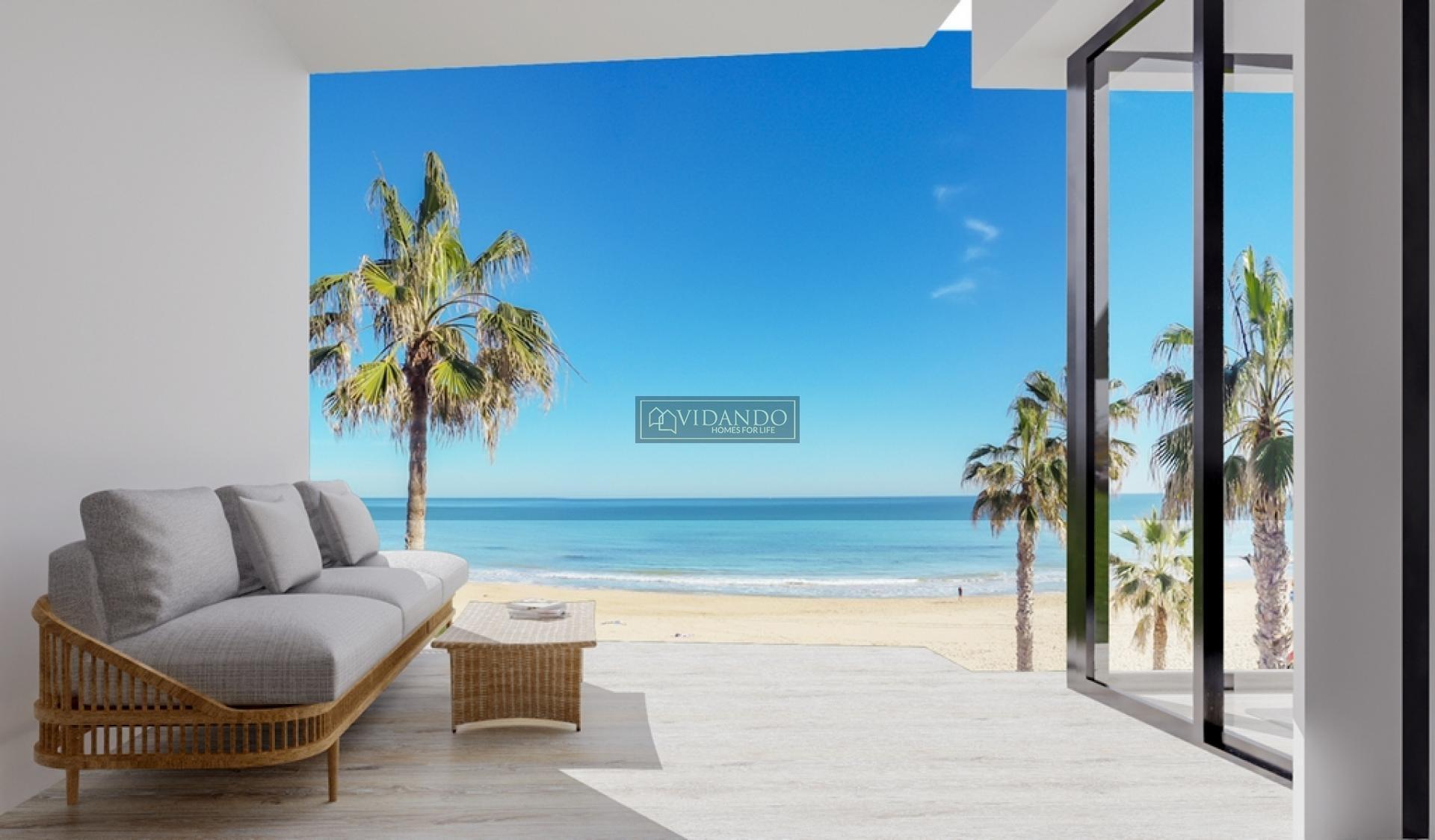 Apartments first beach line located in La Mata, Torrevieja in Vidando