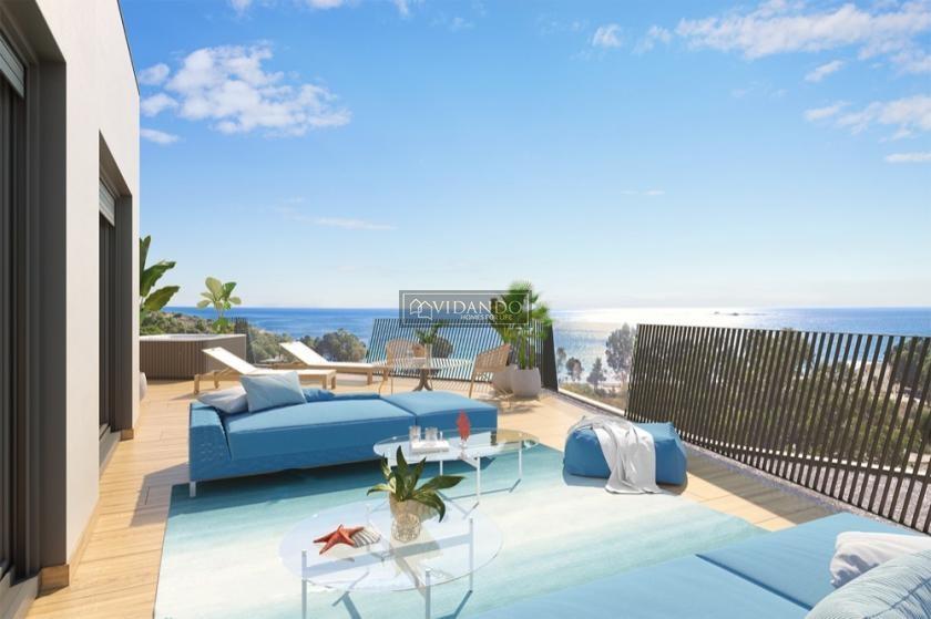 Penthouse met zeezicht in Villajoyosa, Costa Blanca Noord in Vidando